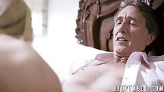 Naughty daddy fucks wife before banging stepdaughter